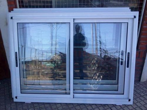 ventana aluminio blanco linea modena 150x110 con vidrio