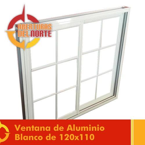 ventana aluminio blanco repartido 120x110  fabrica vidrio