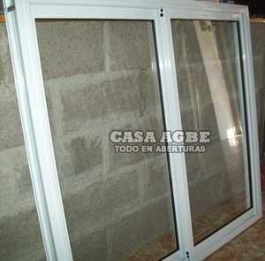 ventana aluminio blanco vidrio entero 120 x 110, con vidrio.