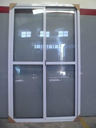 Imperdible oferta puerta ventana en aluminio con reja for Cuanto sale una puerta