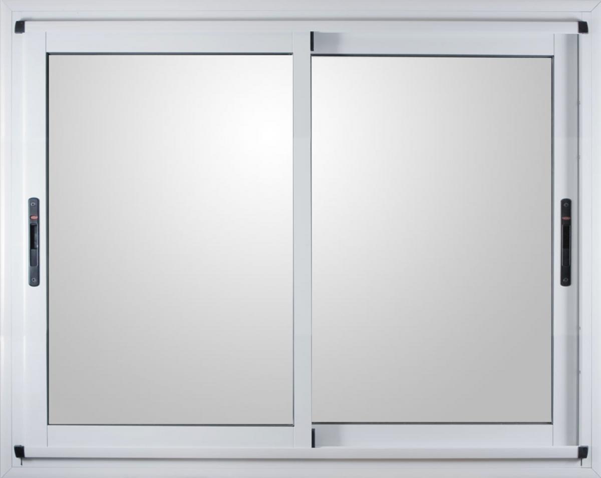 Ventana Aluminio Modena Blanca 200 X 110 Vidrio Dvh 4 9 4  ~ Ventanas De Pvc Precios Y Modelos