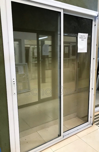 ventana aluminio modena dvh doble vidrio 4/9/4 240x200 cm