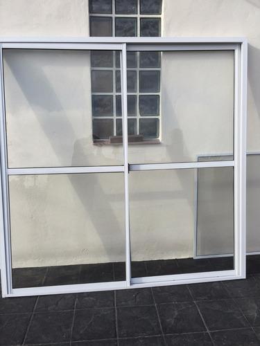 ventana balcón 150x200 aluminio blanco y te lo llevamos!!!!!