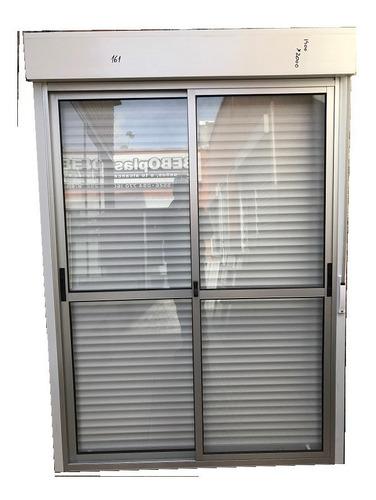 ventana c/cortina incorporada 1.20 x 1.00  siste/monoblock.