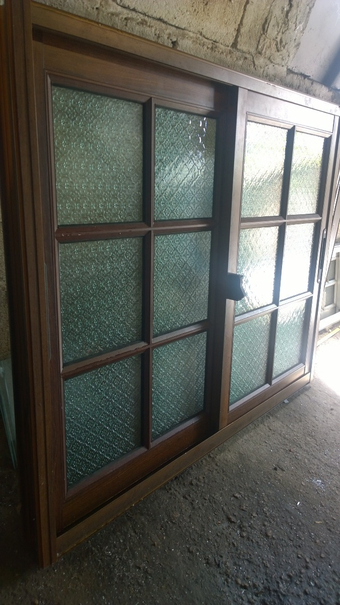 Ventanas aluminio color madera latest ventanas correderas - Puertas de aluminio color madera ...