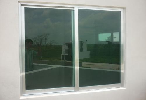 ventana de aluminio 60 x 60 cm , vidrio 3mm canceles