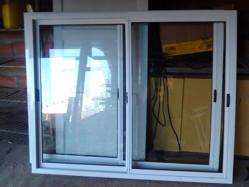 ventana de aluminio blanco 1,50 x1,10 vidrio entero