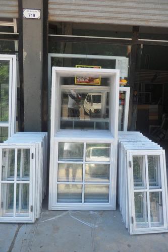 ventana de aluminio blanco de 150x200 con vidrio