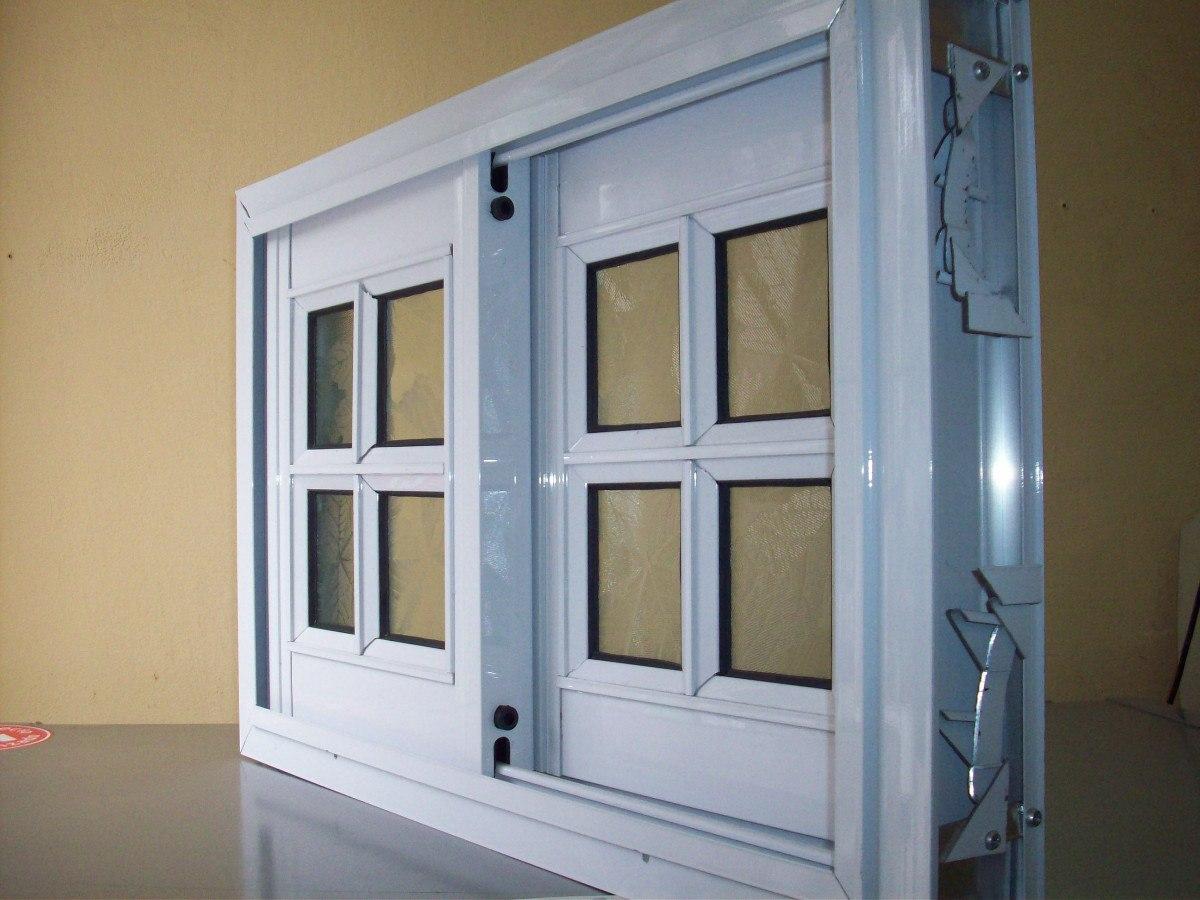 Ventana De Aluminio Blanco Vidrio Repartido Vidrios Fantasia  ~ Como Limpiar El Aluminio De Las Ventanas
