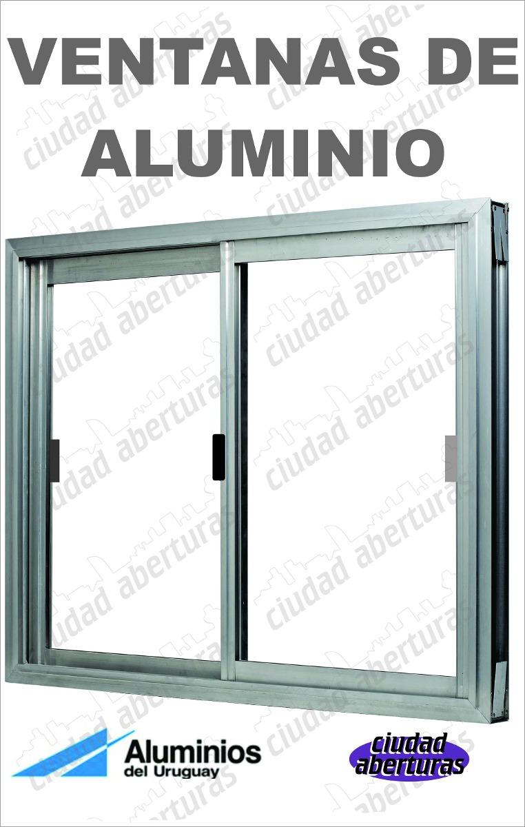 Ventana de aluminio serie 20 100x80 entrega inmediata for Cuanto cuesta el aluminio para ventanas