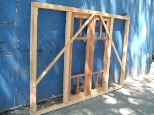 ventana de cedro con paño fijo