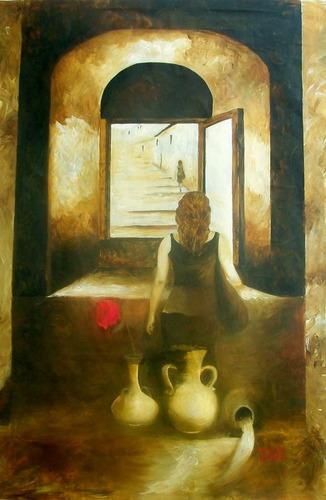 ventana en el tiempo  (pintora: mariella kampoy)