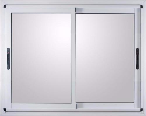 ventana modena pesada aluminio blanco 150x110 c/vidrios 4mm