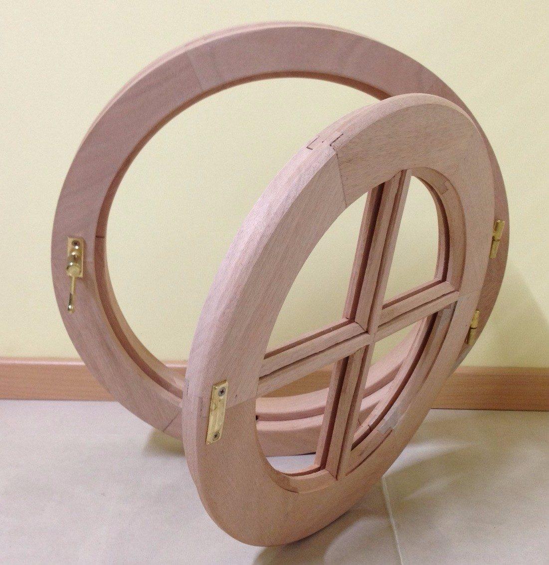 Ventana Ojo De Buey Ventiluz Marco Madera Cedro Abrir 45cm - $ 1.450 ...