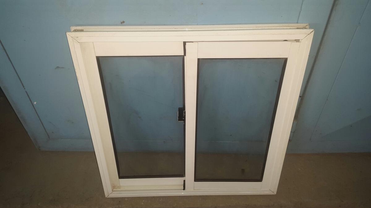 ventana panoramica en perfiles de aluminio blanco bs