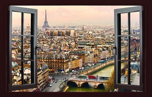 ventana  paris gde lienzo canvas cuadro decorativo