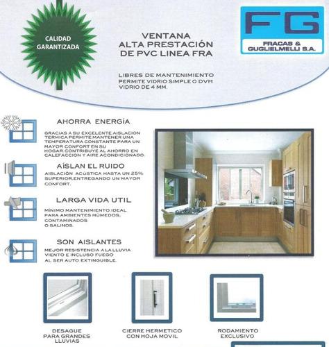 ventana pvc 150x110 con doble vidriado hermético dvh 4/9/4