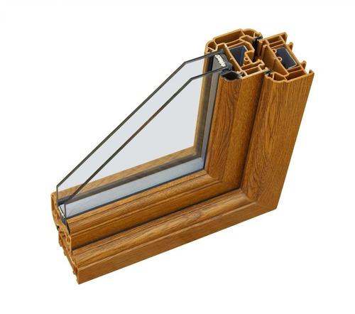 ventana pvc + 3000x2190 + 3 hojas + dvh + color nogal