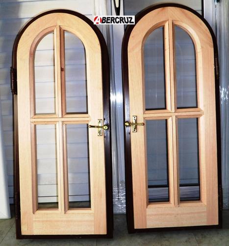 ventana raja  abrir  madera cedro medio punto externo 30x80