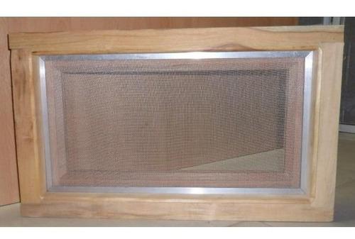 ventana ventiluz volcable madera cedro 60x36 con mosquitero, limitador a cadena o tijera