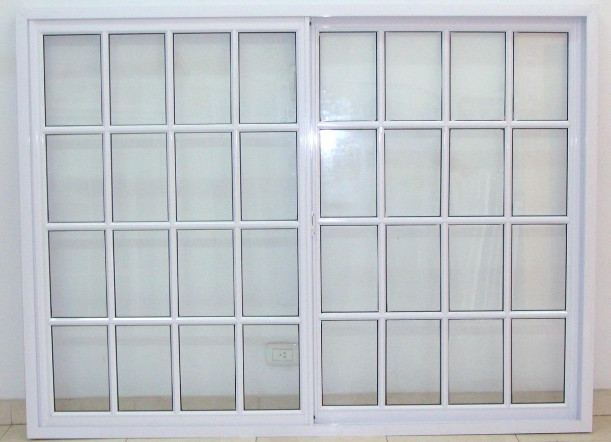 Ventanal Aluminio Blanco Vidrio Repartido 200x150 Con Vidrio ...
