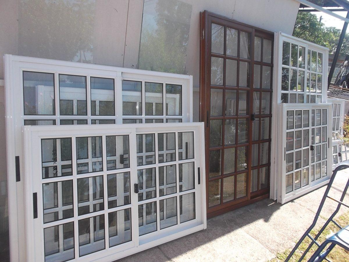 Ventanas aluminio coloniales m2 en mercado libre for Fabrica de aberturas de madera