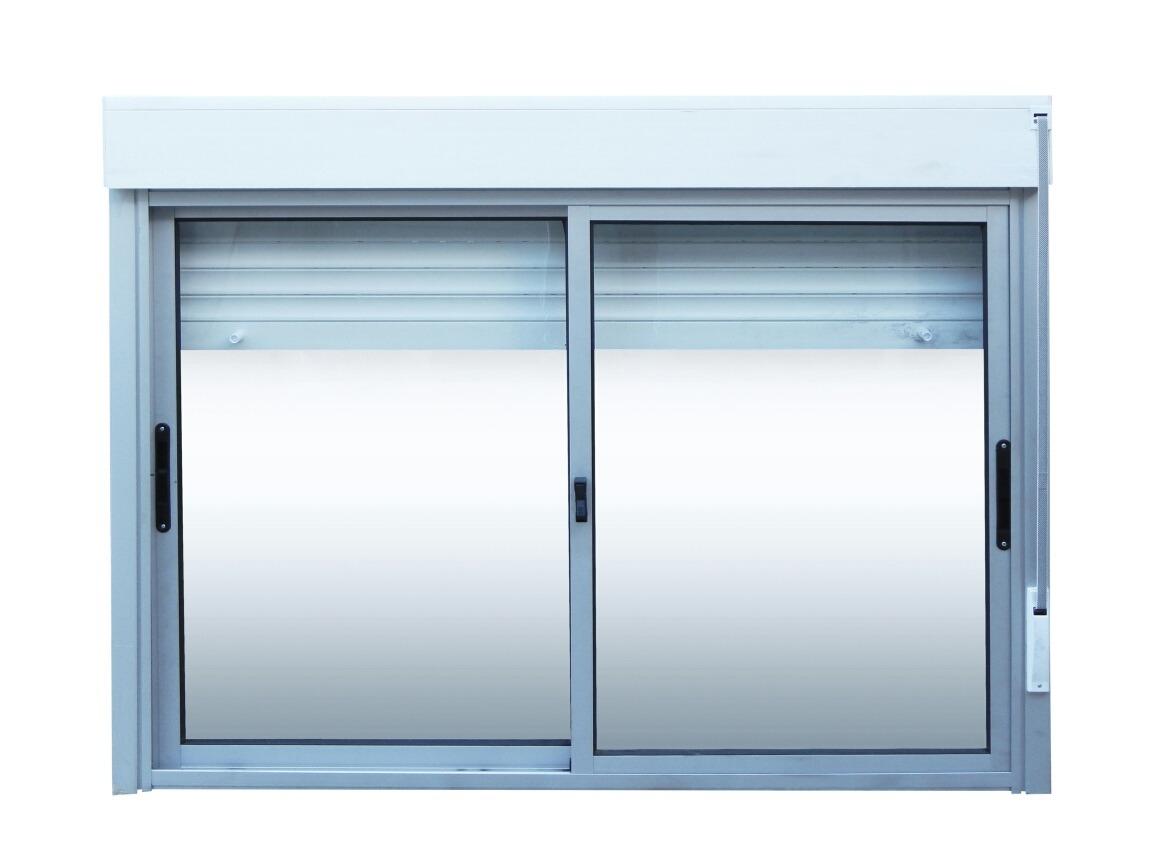 Ventanas aluminio monoblock persiana enrollar 150 x 120 for Ventanas con persianas incorporadas