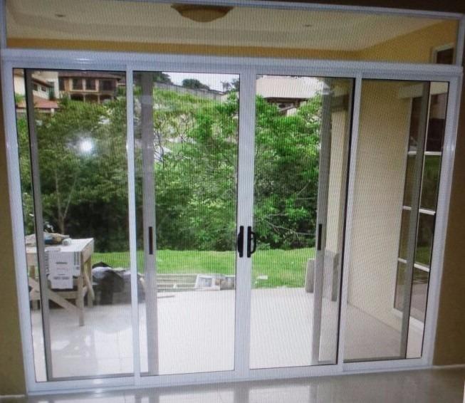 Puertas y ventanas de aluminio cristal templado for Aberturas de aluminio puertas