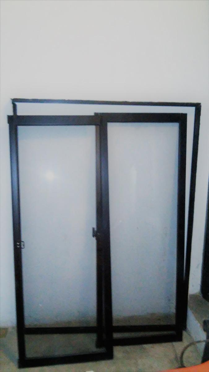 Ventanas Corredizas De Vidrio Con Marco De Aluminio Negro - Bs ...