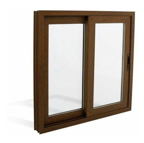 ventanas de aluminio 100x100 color madera garantizada oferta
