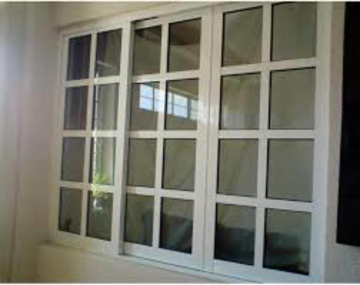 Ventanas de aluminio 1250 1 en mercado libre for Modelos de puertas de aluminio para interiores