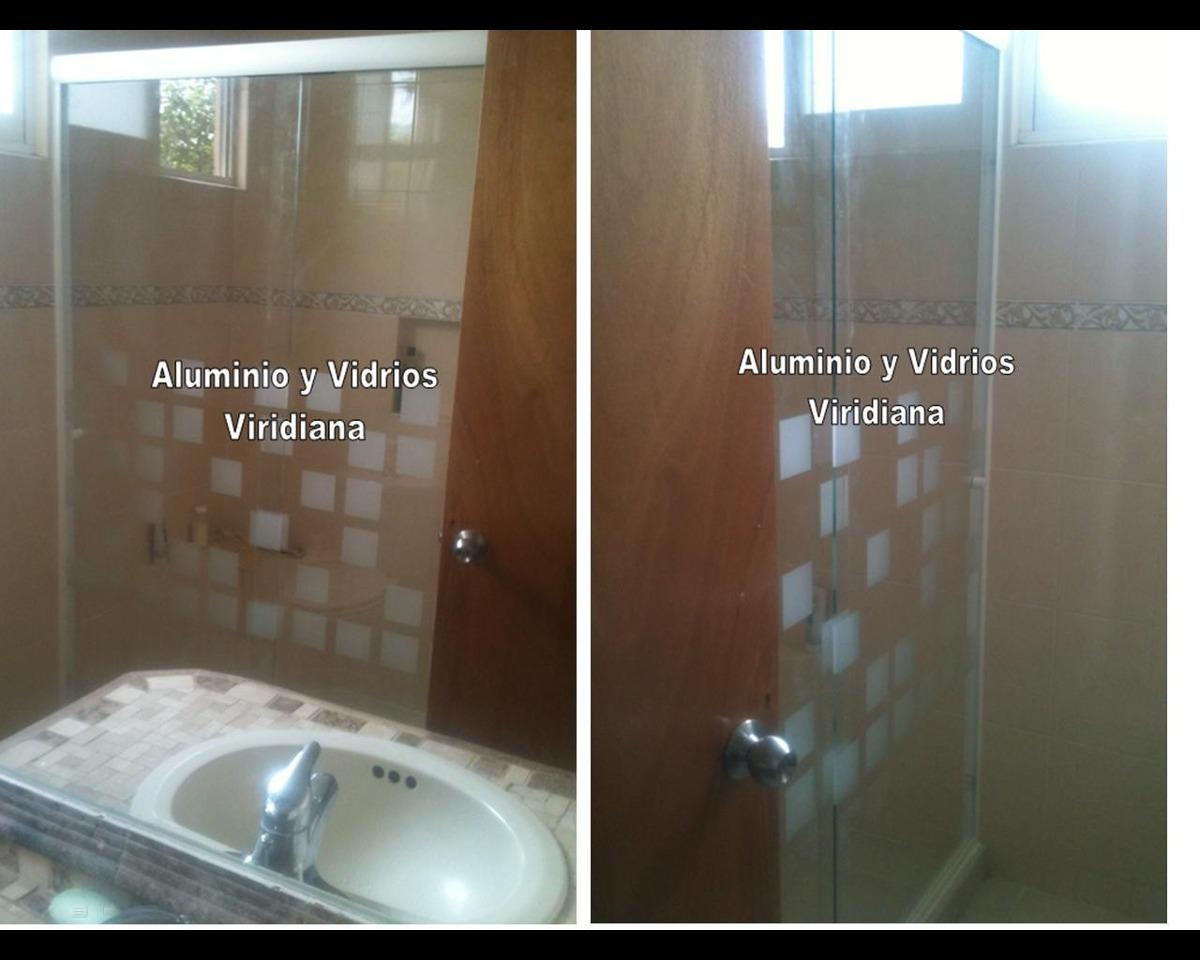 Ventanas de aluminio canceles de ba o vidrio templado en mercado libre - Estor para ducha ...
