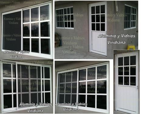 Ventanas de aluminio canceles de ba o vidrio templado for Instalacion de ventanas de aluminio
