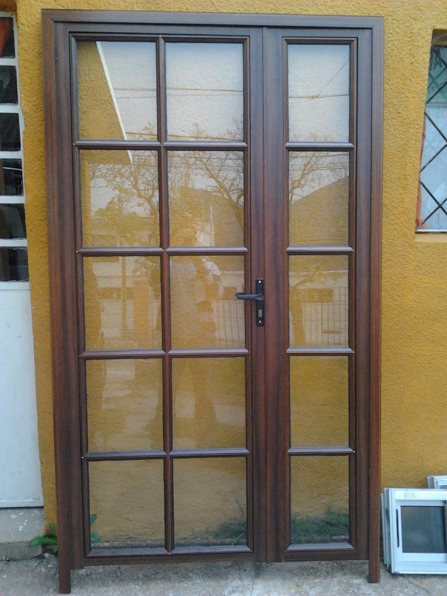 Ventanas de aluminio coloniales x 1 0 simil madera for Fabrica de aberturas de madera