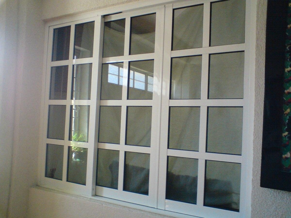 Ventanas de aluminio y puertas 1 en mercado libre for Puerta ventana de aluminio corrediza