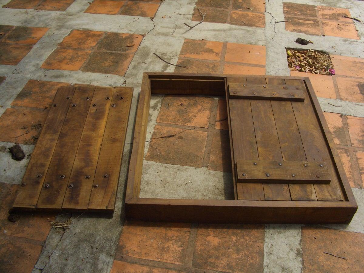 Ventanas de madera coloniales con puertas los chaguaramos - Hacer una ventana de madera ...