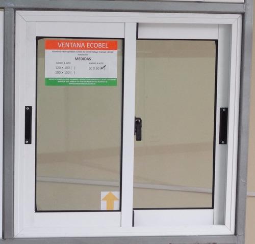 Ventanas de vidrio y aluminio ecobel para ba os bs 399 for Tipos de ventanas de aluminio para banos