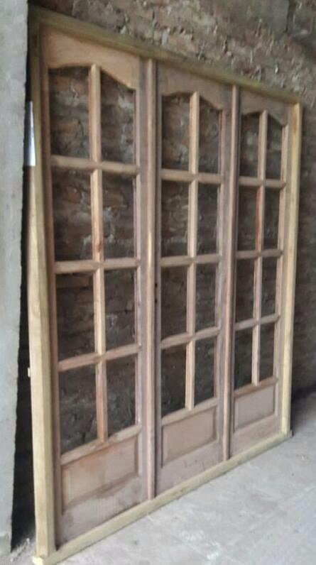 Ventanas Madera Algarrobo Vidrio Repartido Vidrio Entero