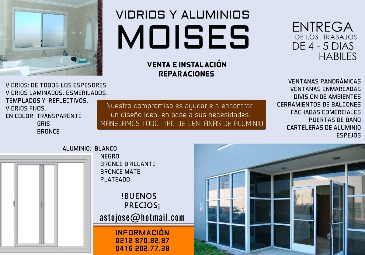 Ventanas Panoramicas En Aluminio Y Vidrios A La Medida - Bs. 15.000 ...