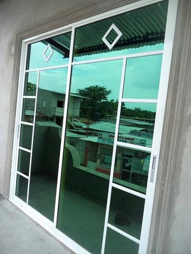ventanas  puertas corredizas de aluminio y vidrio