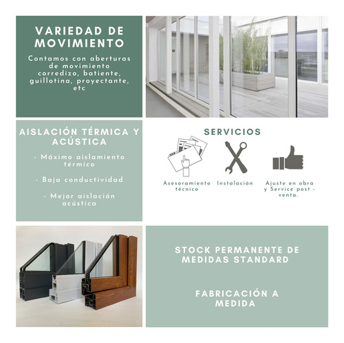 ventanas pvc dvh doble vidrio más de 50 medidas consulte