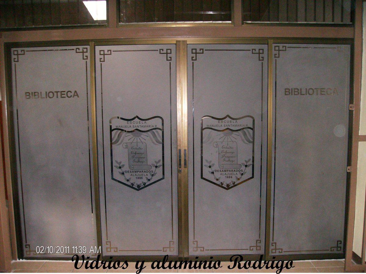 Ventanas vidrios aluminio espejos puertas de ba o y mas - Puertas en aluminio y vidrio ...