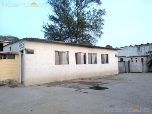 venta|renta de terreno con construcción en col. la barra, cd. madero