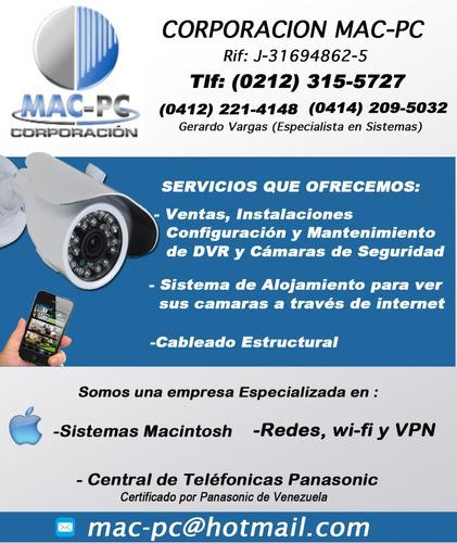 ventas instalacion configuracion de camaras  seguridad cctv