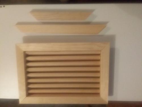 ventila de madera para puerta de 1 1/2