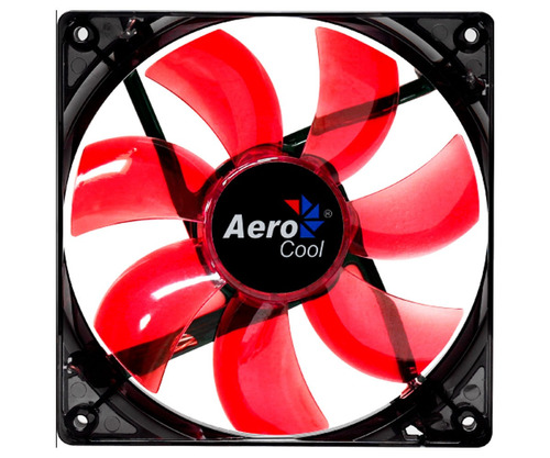 ventilador 120mm aerocool lightning led red