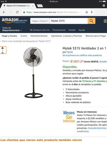 ventilador 2 en 1 mytek3315 18 y 20 pulgadas mismo precio.