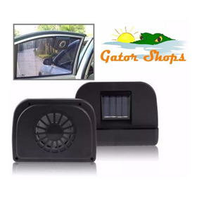 Ventilador A Energía Solar De Ventana Para Carros. 10 Verdes