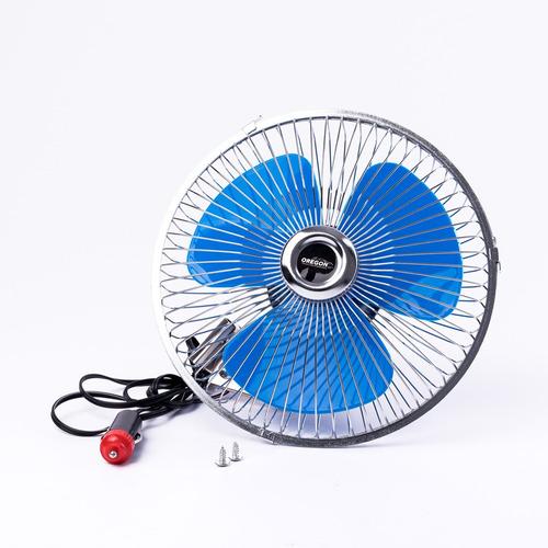 ventilador auto metalico oregon 12v 8 pulgadas vent003