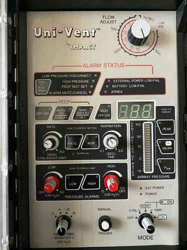 ventilador autorrespirador medico impact 750
